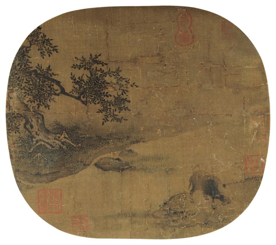 南宋 佚名《牧牛图》RMB 5,750,000图片一作品欣赏