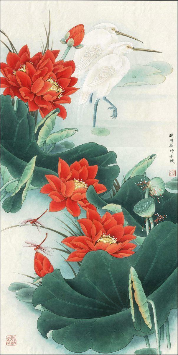 0001_中国画素材jpg格式_中式国画-荷花图001_