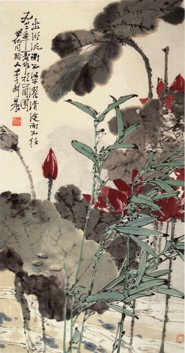 0027_中国画素材jpg格式_中式国画-荷花图026_