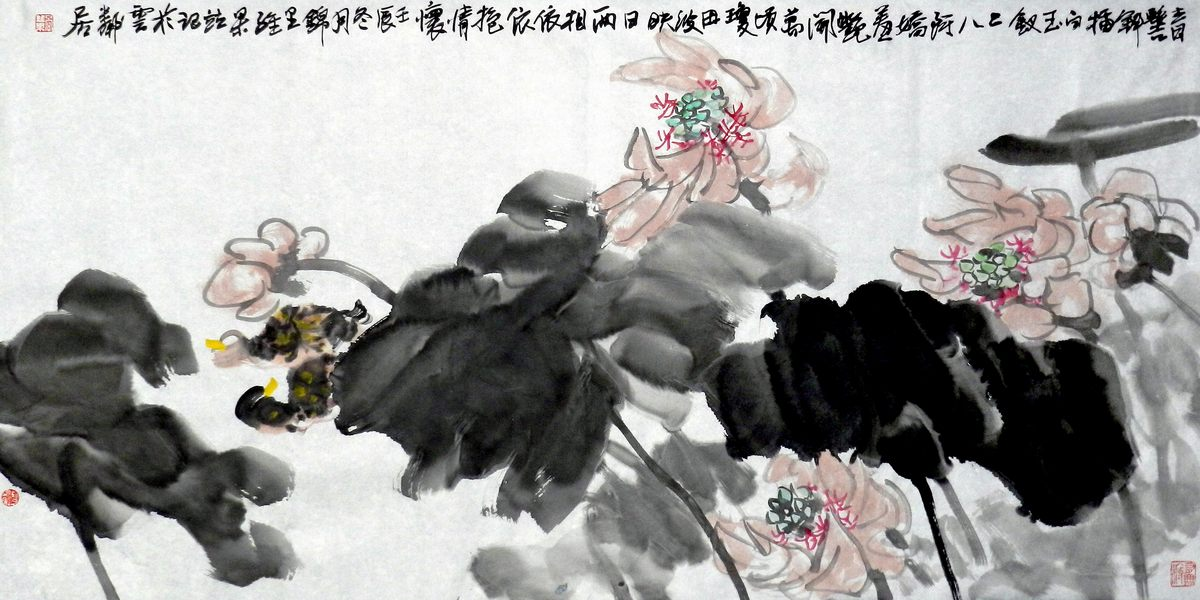 0222_中国画素材jpg格式_中式国画-荷花图221_