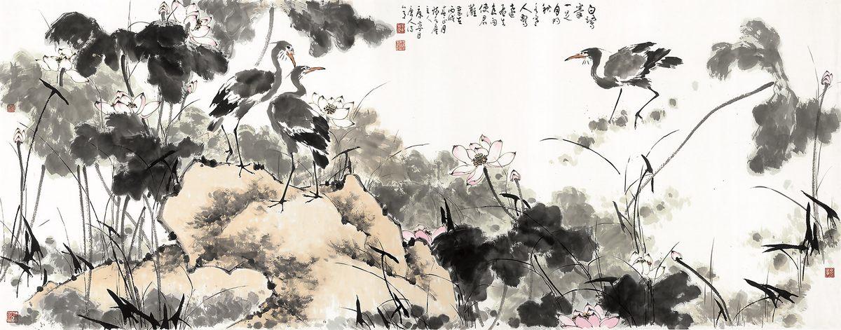 0234_中国画素材jpg格式_中式国画-荷花图233_