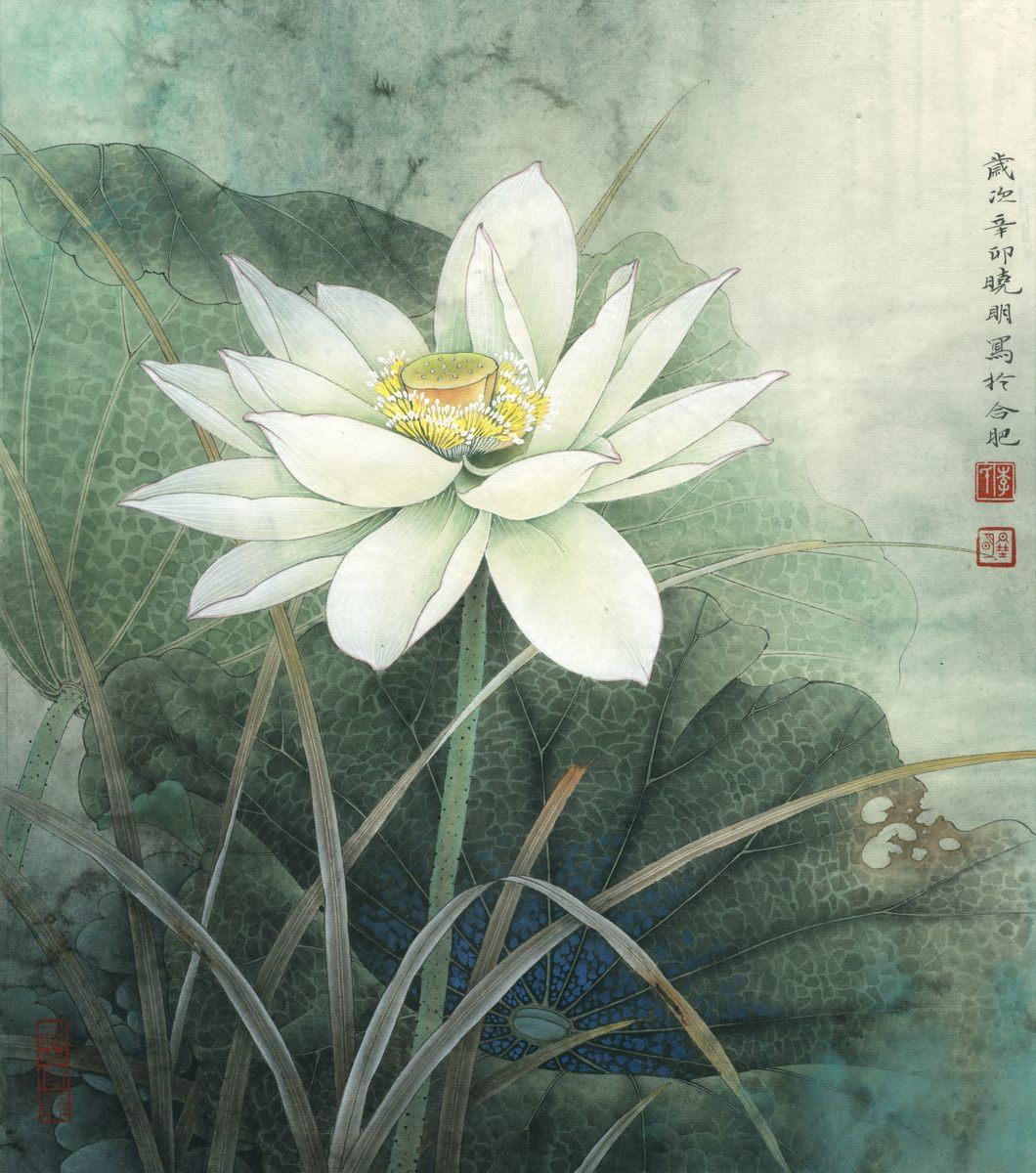 0241_中国画素材jpg格式_中式国画-荷花图2390_