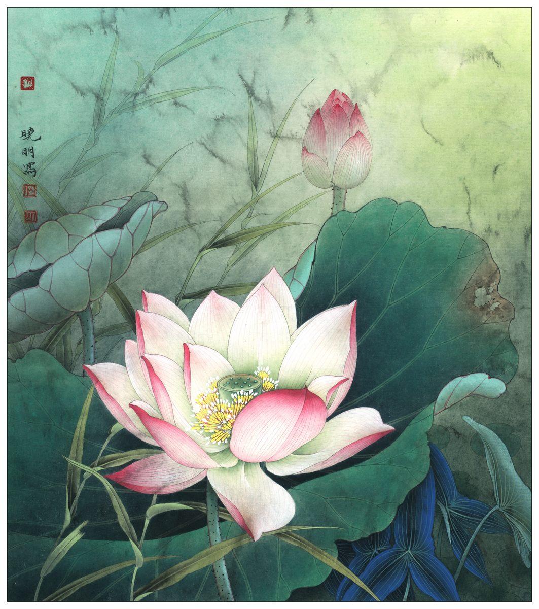 0243_中国画素材jpg格式_中式国画-荷花图2410_