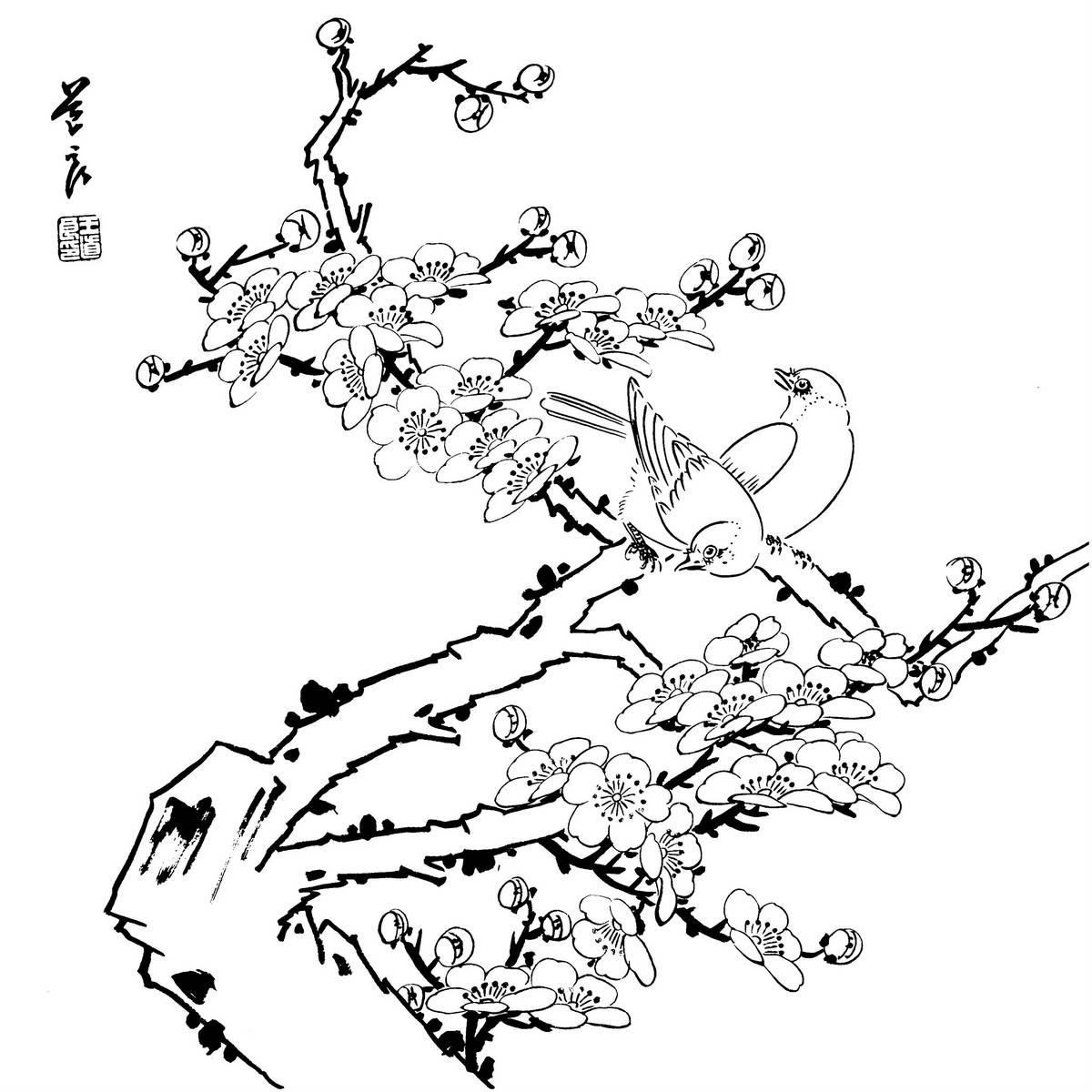 0033_工笔画花鸟白描线稿素材高清图33_0x0px_jpg_600dpi_3