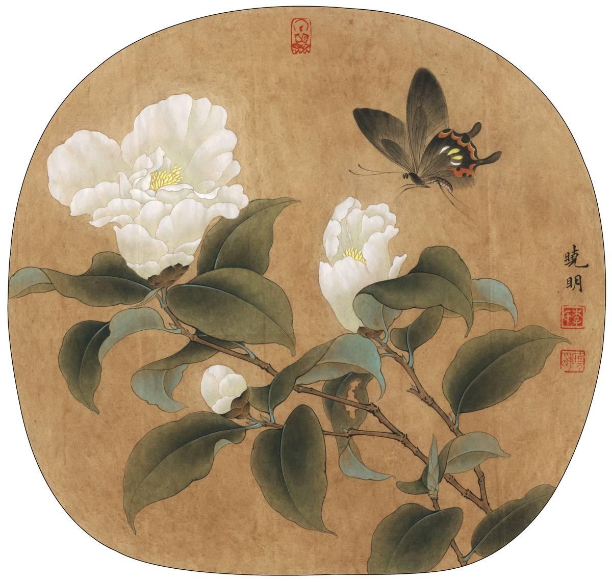 0027_李晓明古风工笔画高清图专辑JPG-临宋山茶蝴蝶图_4203x4001PX_JPG_300DPI_2.2