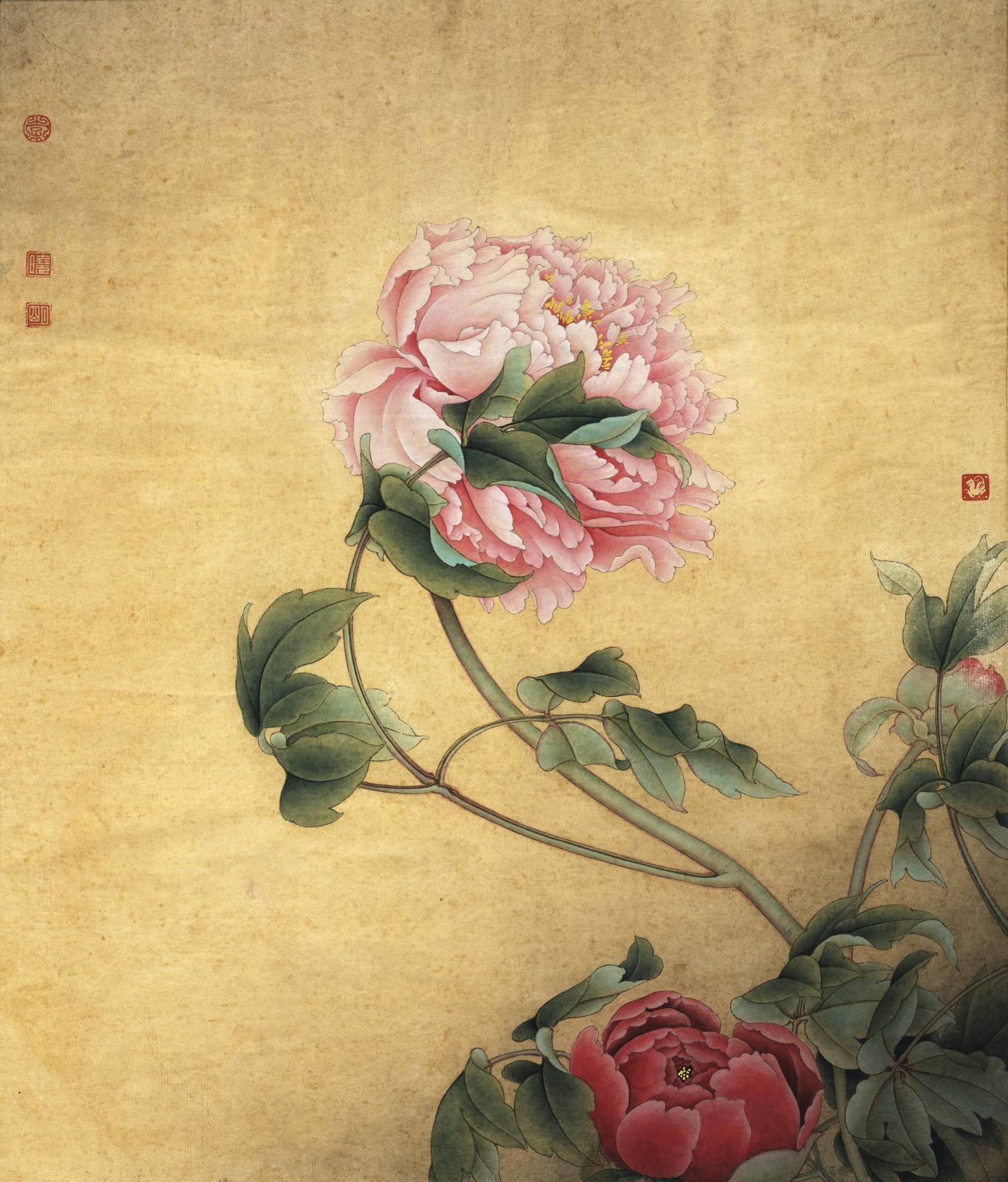 0015_李晓明牡丹工笔画高清图专辑JPG-国色双辉(构图拟郎世宁)_4429x5197PX_JPG_300DPI_7.2