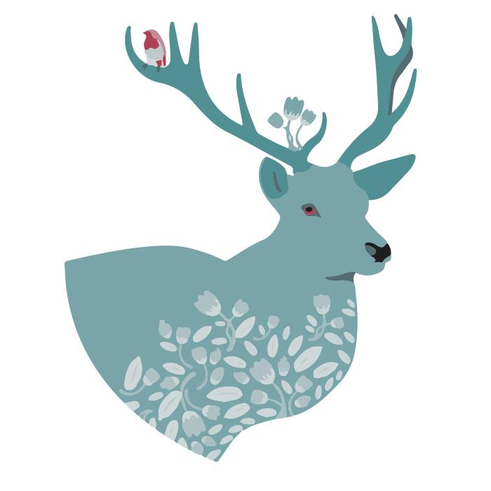 [装饰画高清大图]0006_北欧风格_ai北欧风格麋鹿矢量图01辑-8_xpx_ai