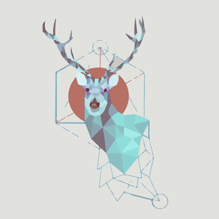 [装饰画高清大图]0011_北欧风格_ai北欧风格麋鹿矢量图01辑-13_xpx_ai