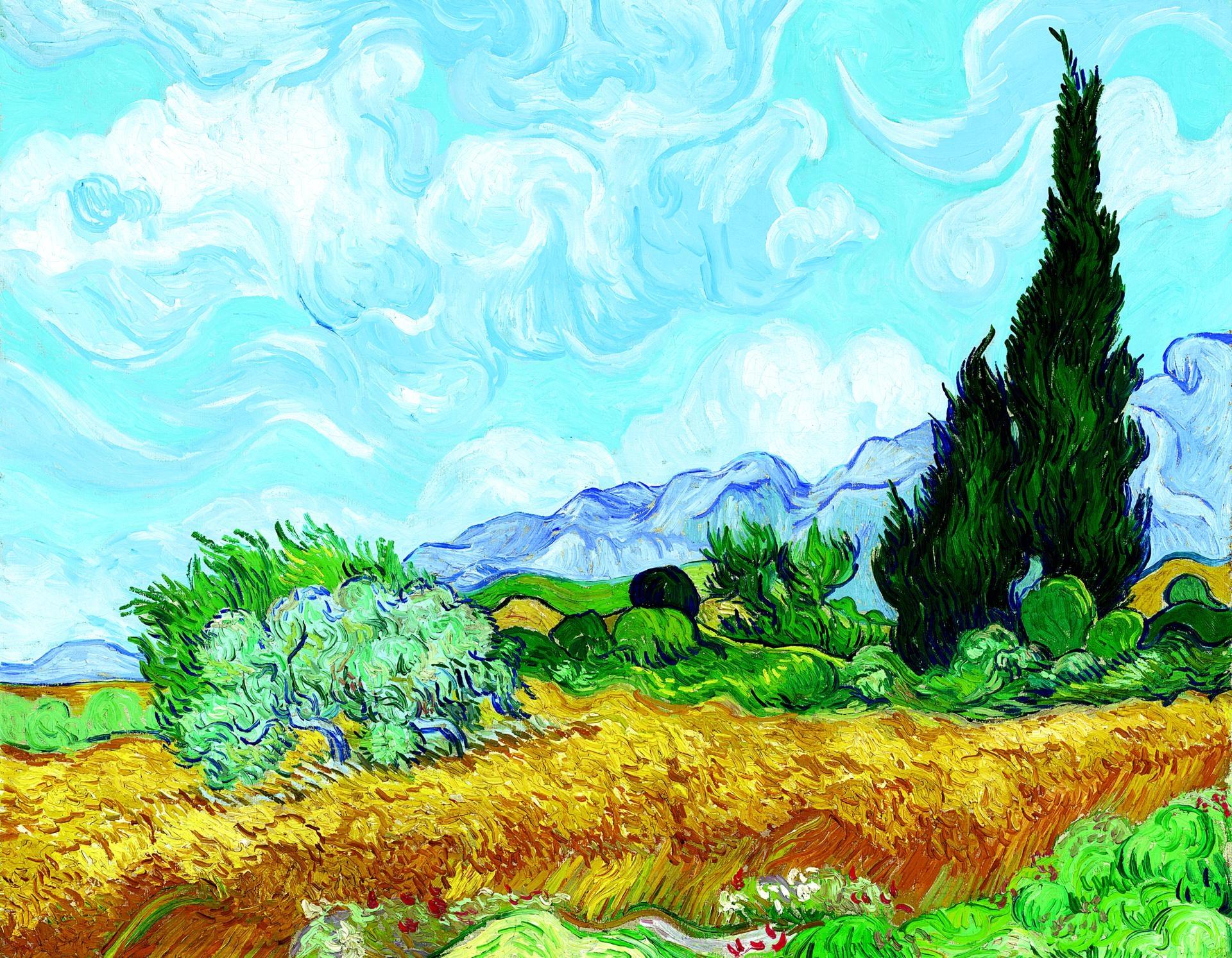 0003_梵高_03梵高麦田中的柏树(7090)-世界名画高清调色版套图20幅TIF_5316x4134PX_TIF_150DPI_65_0
